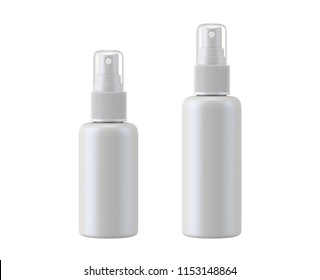 white bottle spray isolated on white background, 3D rendering