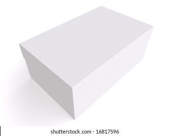 white box isolated on white