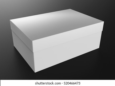 White box. Mockup for your Design. 3D illustration