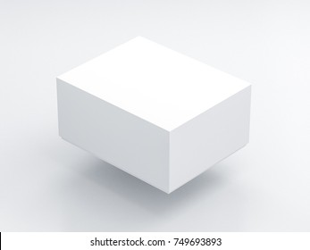 White Box packaging Mockup in light studio. Place your design here 3d rendering