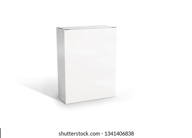 White boxMockUp packiging. Box on the white background. Illustration. 3D.jpg