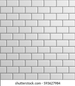 white brick background, 3d rendering