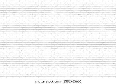 white brick building facade 3d illustration