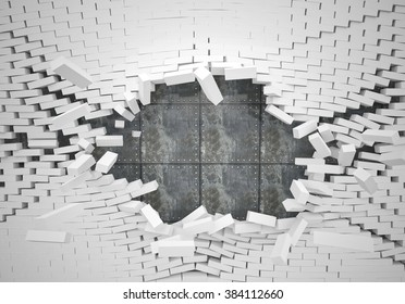 Destroyed Wall Images Stock Photos Amp Vectors Shutterstock