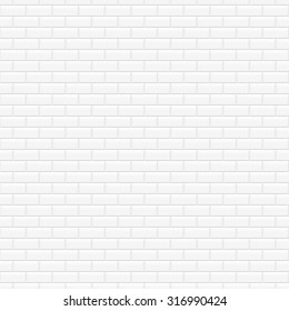 White brick texture, wall seamless pattern