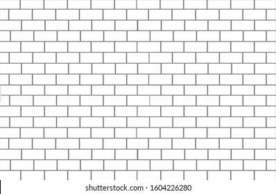 white brick tile wall texture background