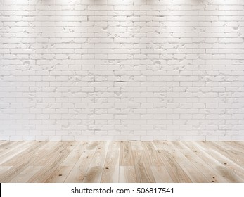 White brick wall 3D background