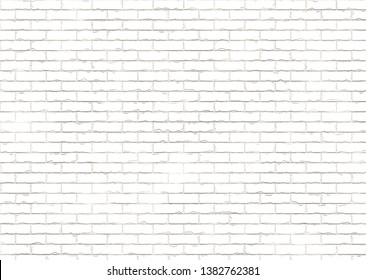 white brick wall 3d illustration