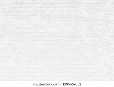 White Brick Wall Background Texture 3D Render