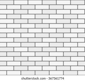 White brick wall. illustration, seamless texture