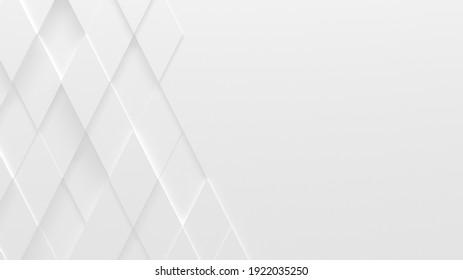 Blanc, Arrière-Plan Rhombus (Illustration 3D)