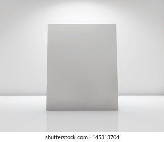 White Card Label On Glossy Surface