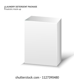 White Carton box package on a white background