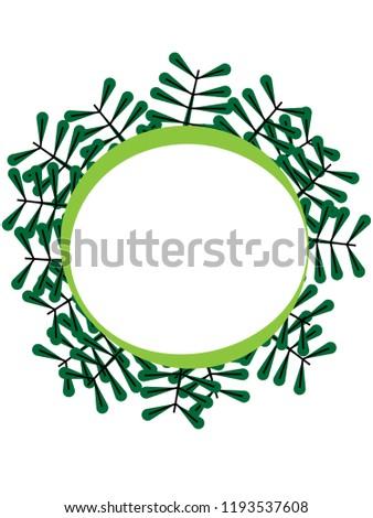 White Circular Frame Space Write Surrounded Stock Illustration