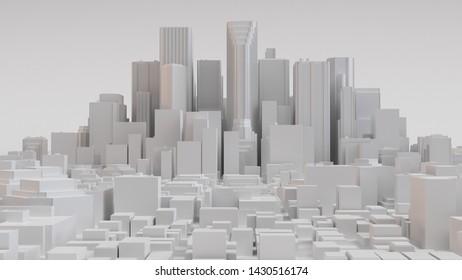 White city layout. 3D render