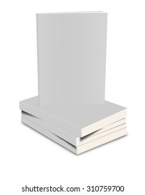 White closed book on white background