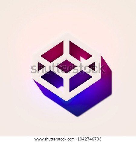 Royalty Free Stock Illustration of White Codepen Icon Pink Blue