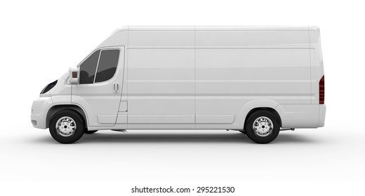 8f54fb487d White commercial van isolated on a white background
