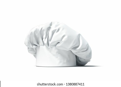 White cook hat or toque isolated on light background. 3d rendering.