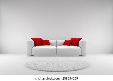 White Sofa Images, Stock Photos & Vectors | Shutterstock