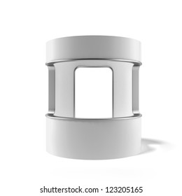 White counter isolated on a white background