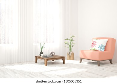 Royalty Free Stock Illustration Of Turquoise Cozy Minimalist Room
