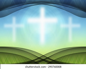 White Crosses Abstract background