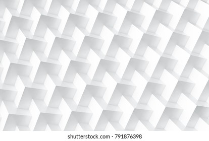White cube background, embed cubes geometric pattern in 3d render