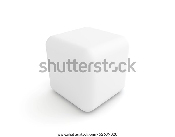 Awesome White Cube Rounded Corners Stock Image Download Now Squirreltailoven Fun Painted Chair Ideas Images Squirreltailovenorg