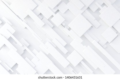 White cubes background.3d illustration.Abstract geometric design with cubes structure