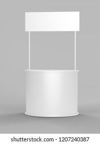 white degustation stand mock up - 3d illustration