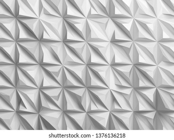White digital relief pattern. Abstract cg background texture, 3d render illustration