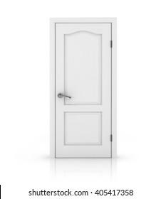 white door on white background.  3D rendering