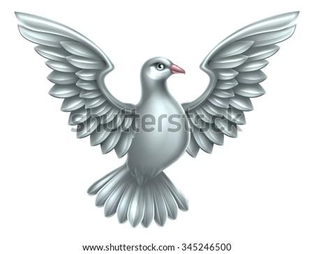 White Dove Symbol Peace Faith Hope Stock Illustration 345246500