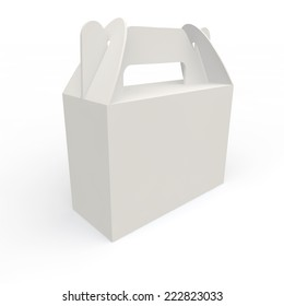 White empty box for gifts and other holiday products
