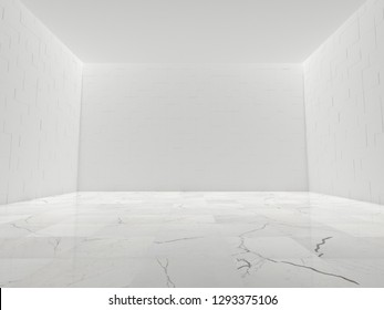 White Empty Interior (3D Illustration)