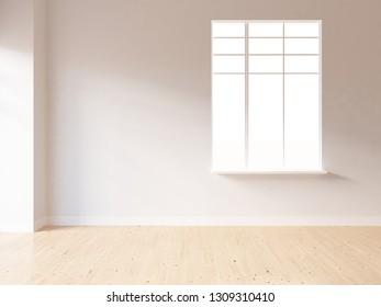 white empty interior. 3d illustration