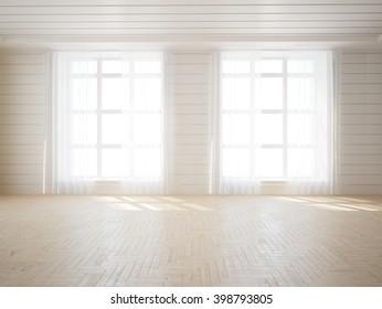 White empty interior  - 3d illustration