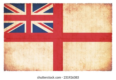 White Ensign flag (naval ensign) of Great Britain