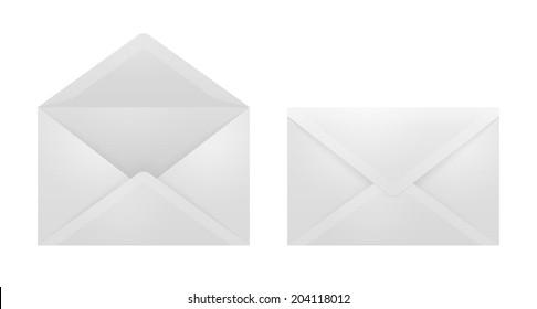 White envelopes on white.