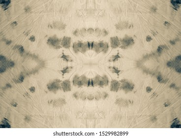 White Fabric Paper. Brown Grey Watercolor Print. Old Dirty Art Banner. Gray Graffiti Style. Pale Sepia Ink Texture. Black Beige Repeating Motif. Pale Beige Sepia Artistic Tie Dye.