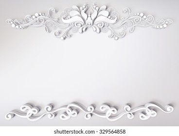white flower pattern
