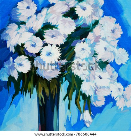 White flowers vase oil painting on stock illustration 786688444 white flowers in a vase oil painting on canvas illustration mightylinksfo