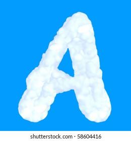 White fluffy cloud font