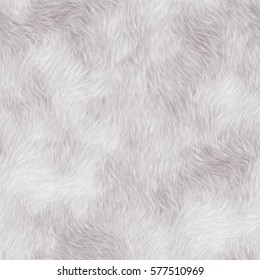 White fur texture. Seamless texture ore background. Fabric fur texture.