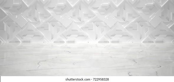 White Futuristic Interior (3d illustration)