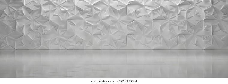 Chambre Futuriste Blanche (Illustration 3D)