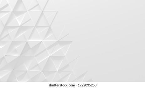 Arrière-Plan Géométrique Blanc Avec Espace pour Copie (Illustration 3D)