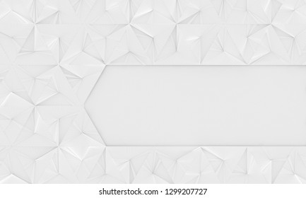 White Geometric Background With Space for Text (3d Illustration)