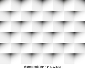 White geometric texture. Background can be used in cover design, CD cover, book design, website background, advertising. White seamless texture with shadow.